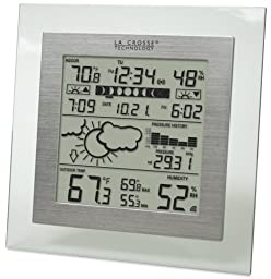 La Crosse Technology WS-9257U-IT Wireless Barometer Station with Forecaster, Moon Phase, In/Out Temperature, Humidity