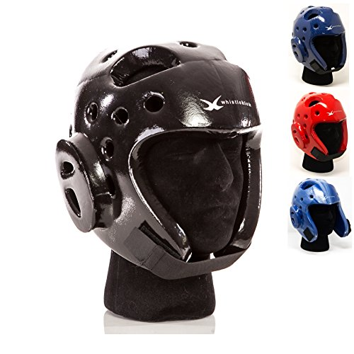 whistlekick Martial Arts Sparring Helmet (Stealth Black, Small) with FREE Backpack-Taekwondo Martial Arts Sparring Equipment Gear Set