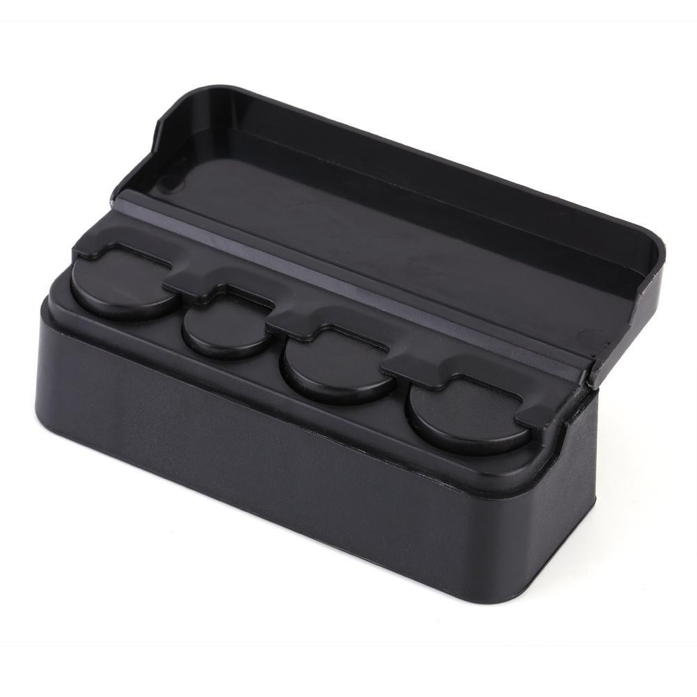 RV Interior Accessories Portable Coin Case Storage Box Black Holder Changes Storage Box Car Coin Case Money Container for Car Car Coin Holder Organizer Truck