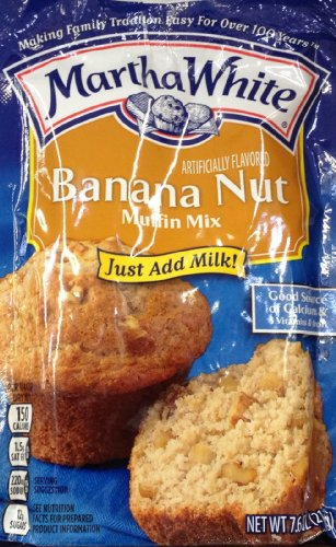 Martha White BANANA NUT Muffin Mix 7.6oz (6 Packets) (The Best Banana Nut Muffins)