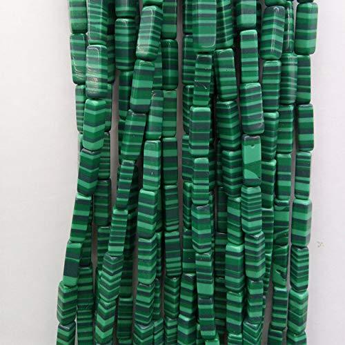 (Beads for Women - 9th Aug Natural Kiwi Tubes Loose Beads 4413mm Natual DIY Craft - Malachite Stone)