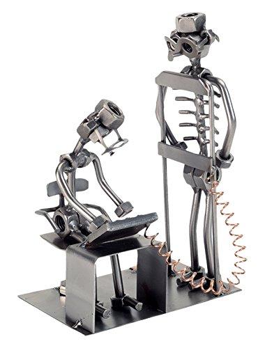 H & K SCULPTURES 237PR Radiologist Nuts & Bolts Sculpture, Silver