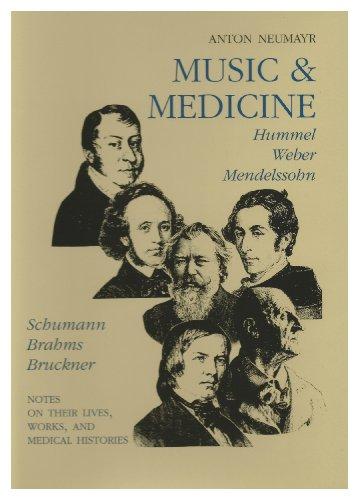 - Music and Medicine: Hummel, Weber, Mendelssohn, Schumann, Brahms, Bruckner: On Their Lives,    Works, and Medical Histories