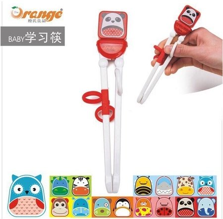 Children Kids Baby Learning Training Chopsticks for Right Hand, Designed for children. Curious age (8)