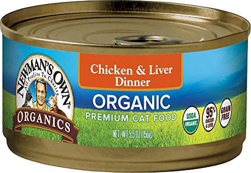 Organic Liver - Newman's Own Organics Chicken & Liver Dinner For Cats, 5.5-Oz. (Pack Of 24)