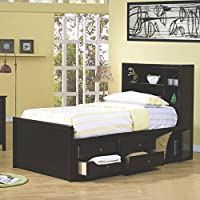 Coaster Home Furnishings 400180F Transitional Bed, Full, Cappuccino