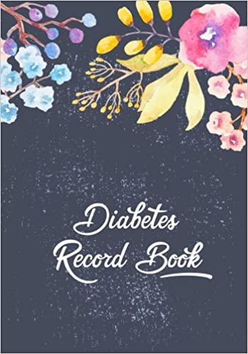 Diabetes Record Book Diabetic Blood Sugar Glucose Log Book Food