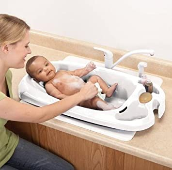 Delicieux Safety 1st Infant Newborn Baby To Toddler Bath Tub, White   Fit Standard  Size Single