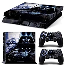 Ps4 Playstation 4 Console Skin Decal Sticker Star Wars Darth Vader Battlefront + 2 Controller Skins Set