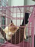 Image of Cat Hammock Ferret Hammock Rat Hammock Pet Hammock - Also for Rabbit, Small Dogs - Pet Cage Hammock Bed - 3 Designs (Leopard)