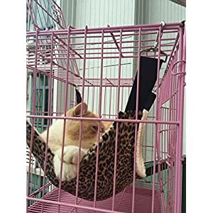 UsefulThingy Cat Hammock/Ferret, Rat, Rabbit, Small Dogs or Other Pet - Easy to Attach to a Cage - 3 Designs 50