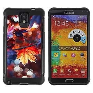 "Pulsar iFace Series Tpu silicona Carcasa Funda Case para SAMSUNG Galaxy Note 3 III / N9000 / N9005 , Lluvia de otoño dom árbol Naturaleza"""
