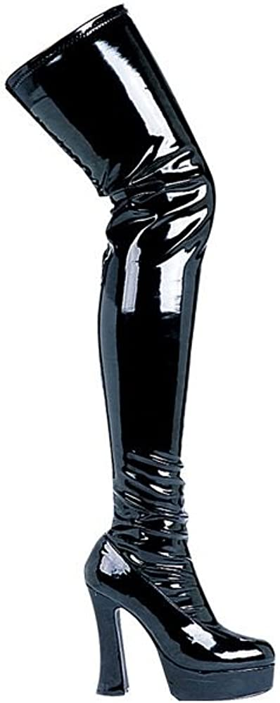 Thrill Sexy Black Patent Leather Thigh