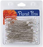 Darice 38077 100-Piece Crystal AB Flower Pins, 3-Inch