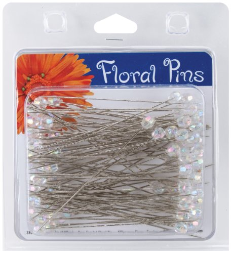 - Darice 38077 100-Piece Crystal AB Flower Pins, 3-Inch