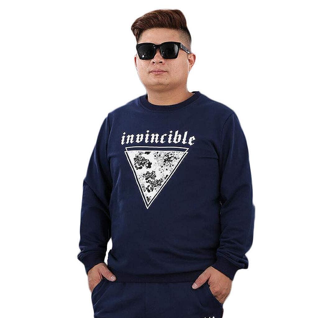 Herbst große Größe Herren Pullover Mode Rundhals Langarm Pullover Plus Dünger Männer Baseball-Uniform zu erhöhen (Farbe   Blau, größe   XXXL)