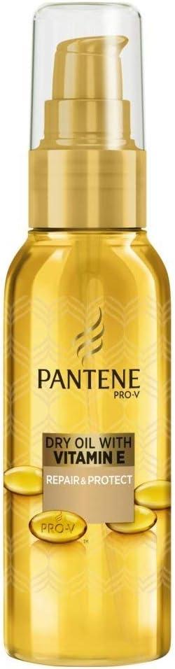 Pantene Tratamiento de aceite seco con vitamina E reparación y protección de 100 ml, caja de 4