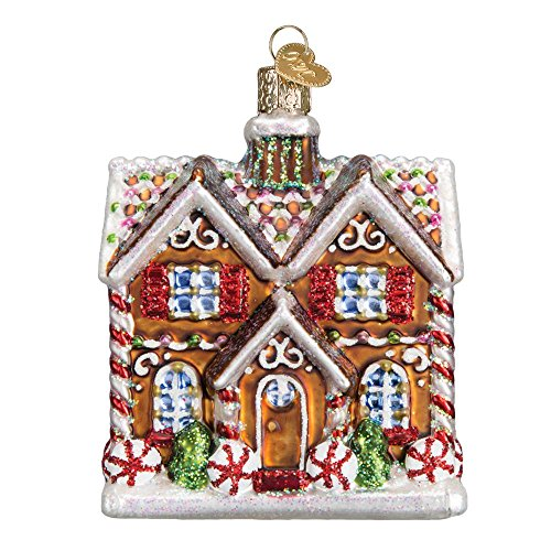 Old World Christmas Ornaments: Christmastime Cottage Glass Blown Ornaments for Christmas Tree -