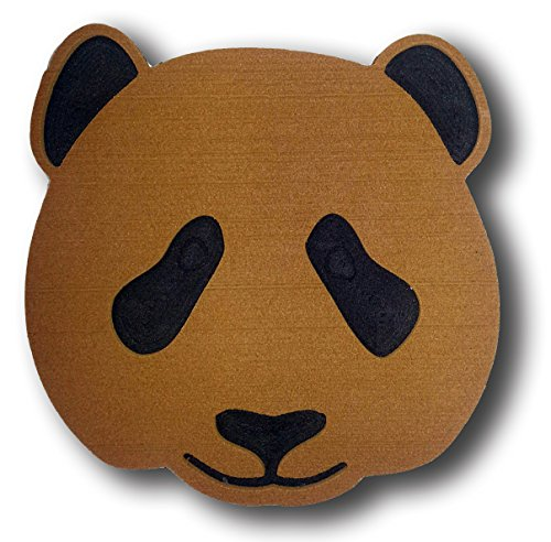 ToeJamR Stomp Pad - PANDA BEAR FACE - Brown by Toejamr