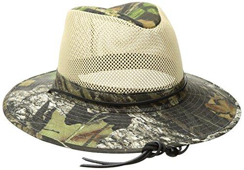 Henschel Men's Aussie Camo Mesh Breezer UPF 50 Hat, Mossy Oak, X-Large