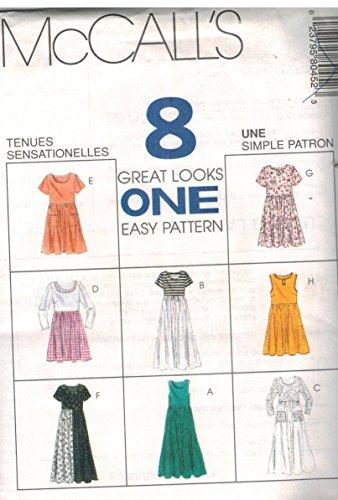 Pattern Empire - 8045 McCalls Sewing Pattern UNCUT Misses Empire Waist Dress Size 14 16 18
