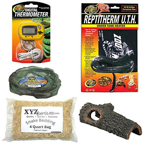 (xyzReptiles Corn Snake Kit 10 Gallon Terrarium Starter Habitat Setup)