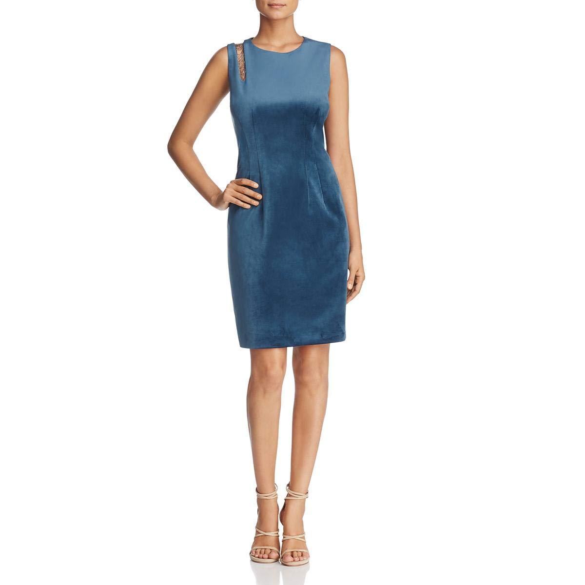 Elie Tahari Womens Emory Velvet Party Cocktail Dress