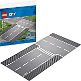 LEGO City Straight and T-Junction 60236 Building Kit , New 2019 (2 Piece)