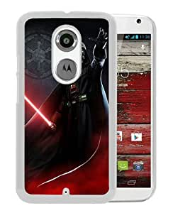Darth Vader White Recommended Customized Design Motorola Moto X 2nd Generation Case