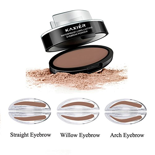 CCbeauty Eyebrow Powder Stamper Seal Kit Eyebrow Kit Powder Waterproof Makeup Eyebrow Tinting Coloring Kit,Light Brown by CCbeauty (Image #8)
