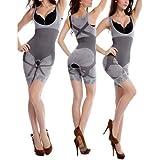 Creatif Ventures Women Slim Grey Comfort Layer Fashion Natural Bamboo Charcoal Body Slim Suit