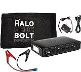 HALO Bolt Portable Charger & Car Jump Starter w/ LED Floodlight Black 0nly