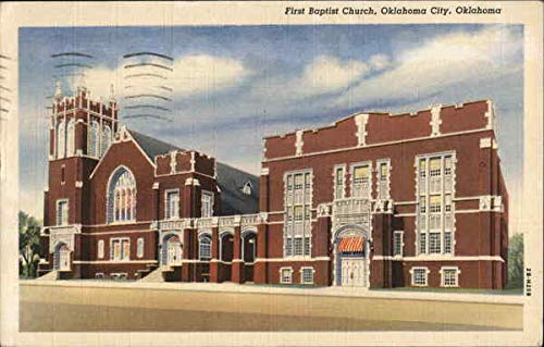 First Baptist Church Oklahoma City, Oklahoma Original Vintage Postcard from CardCow Vintage Postcards