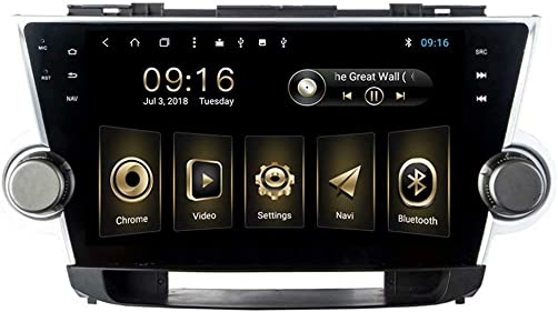TOPNAVI Android 8.1 10.1Inch Multimedia for Toyota Highlander 2008 2009 2010 2011 2012 2013 2014 Stereo Radio GPS Navigation WiFi 3G RDS Mirror Link FM AM
