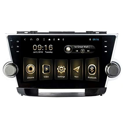 TOPNAVI Android 8 1 10 1Inch Multimedia for Toyota Highlander 2008 2009  2010 2011 2012 2013 2014 Stereo Radio GPS Navigation WiFi 3G RDS Mirror  Link