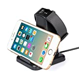 Fitbit Charge 2 Charger, MixMart 2 in 1 Charging Station for Fitbit Charge 2 Wristband with Stand for iPhone Samsung and Tablets