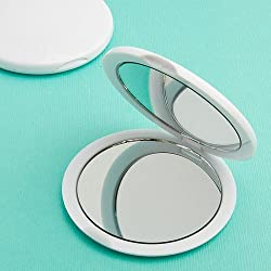24 Perfectly Plain Collection Mirror Compact Party Favors