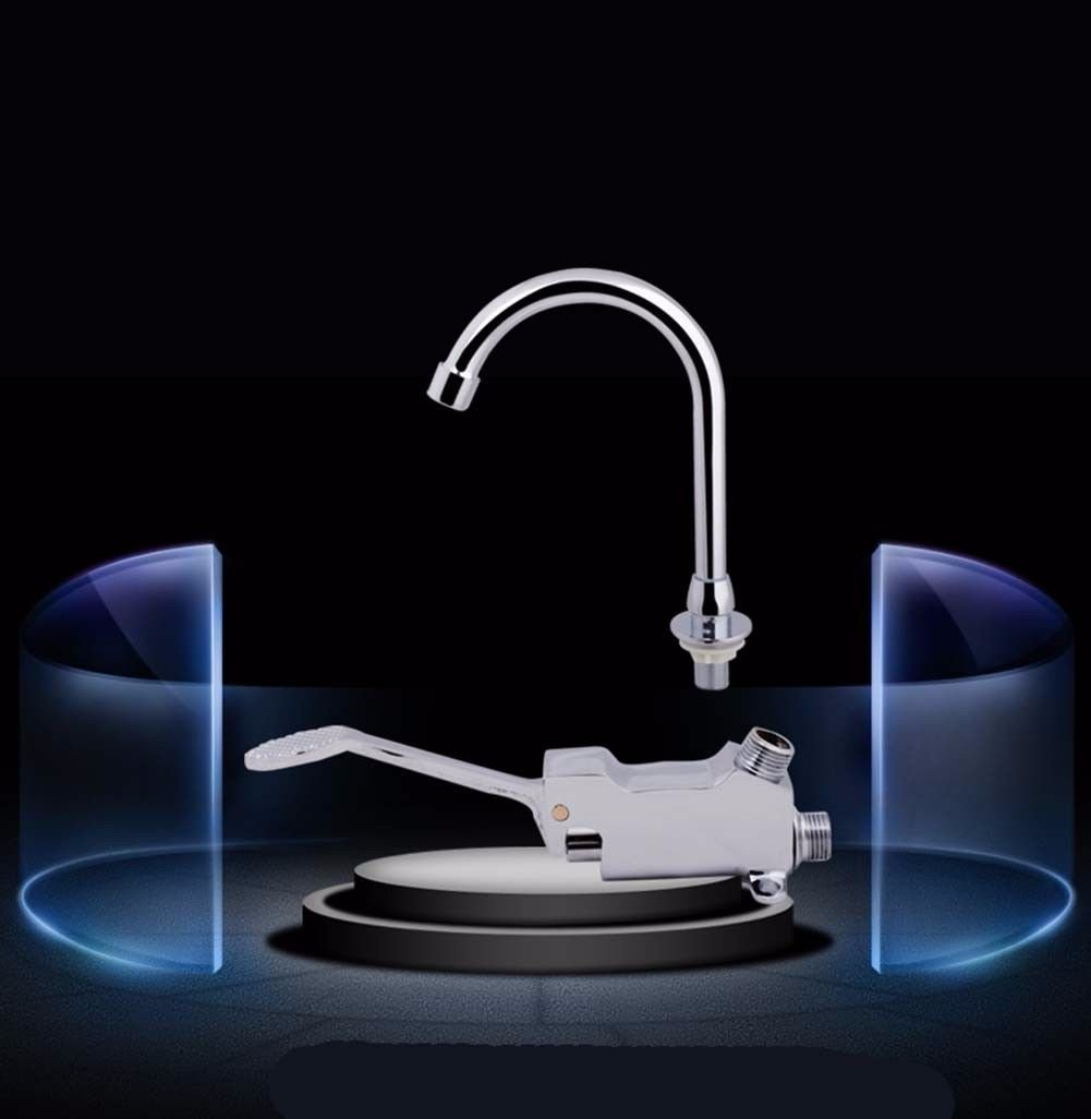 N NewBorn Faucet Kitchen Or Bathroom Sink Mixer Tap The Tap Long-Handle Single Cold-Copper Hospital Water Tap Elbow Touch Type Water Taps G