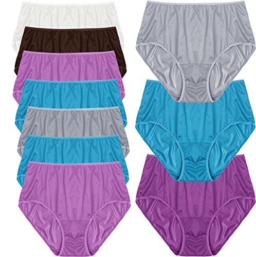 Fruit of the Loom Women's 10 Pack Nylon Brief Plus Size Panties (Assorted,10) (Nylon Panties Plus Size)