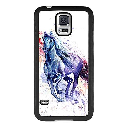 Samsung Galaxy S5 case Tie Dye Horse Full Body Case Cover Screen Protector Heavy Duty Protection case Shockproof case for Samsung Galaxy S5 (Galaxy Dye S5 Tie Case)