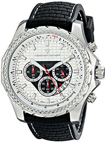 Christian Van Sant Men's CV5122 Sport Retrograde Analog Display Quartz Black Watch