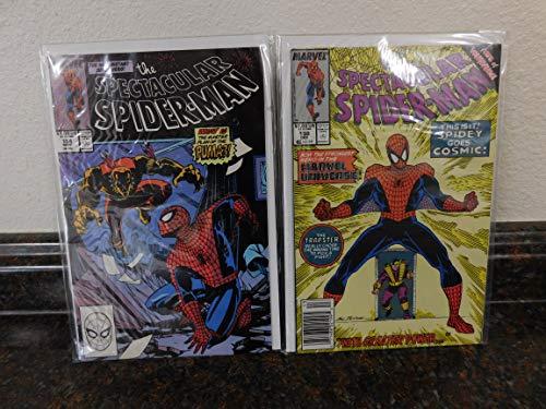The Spectacular Spider-Man Comic Set of 2- No. 154 & 158, Sept- Dec, 1989.