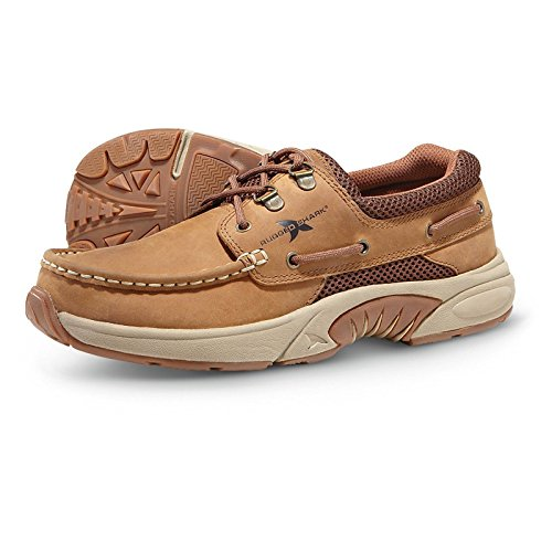 (Rugged Shark Men's Classic Atlantic Casual Boat Shoe, Brown Copper, Size 9)