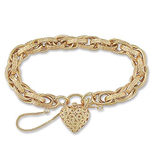 Jewelco Londres 9K or victorian prince coeur de galles 9mm bracelet