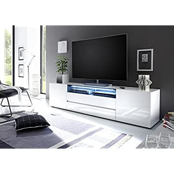Amazon TV Console MILANO Classic WHITE up to 70 inch flat TV