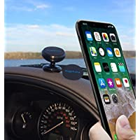 Magnetic car phone holder, Myphone Universal Adjustable  360° Rotation Dashboard Cell Phone Holder for Car Phone Mount Magnetic for all Smartphones, Small Tablets & some GPS (color/black)