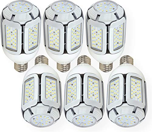 Satco S29752 Hi-Pro Multi-Beam LED Lamp, White, 100-277 Input Voltage, 60 Watts, Mogul Extended Base, EX39 ANSI Base, 7800 Initial Lumens, 50000 Average Rated Hours, 5000 Kelvin Temp, Pack of 6