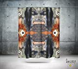 Psychedelic abstract art shower curtain. Boho gypsy style bathroom accessories. Add a matching bath mat! Artwork by mixed media artist C.Cambrea.