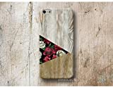 floral roses wood print Phone Case Skin for iPhone X XR XS MAX