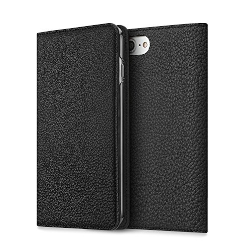 BONAVENTURA iPhone 7 Leather Wallet Case (Beautiful European Full-Grain Leather) | BONAVENTURA Folio Flip Leather Cover Case [iPhone 7 | BLACK] by BONAVENTURA